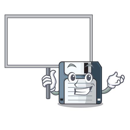 Bring board cartoon shape in the floppy disk 向量圖像