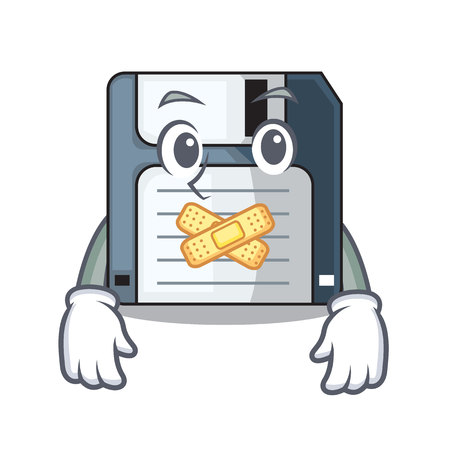 Silent floppy disk in the writing wallet Illustration