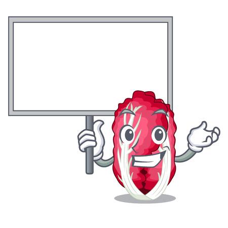 Bring board radiccho in the shape of mascot vector illustration Ilustracja