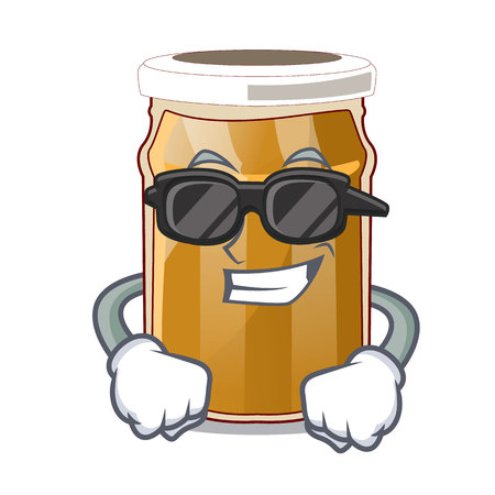 Super cool almond butter on a cartoon table vector illustration