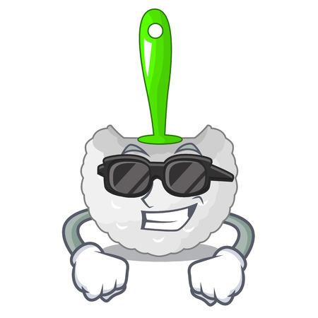 Super cool cartoon toilet brush in the bathroom vector illustration Иллюстрация