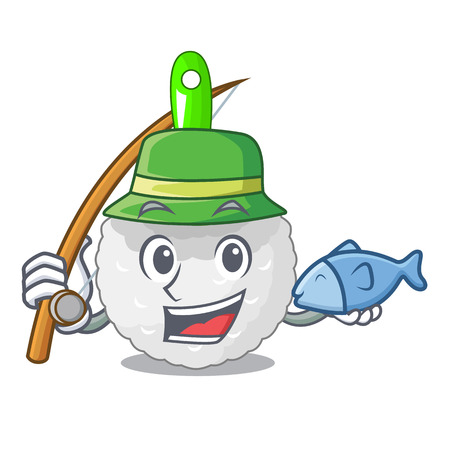 Fishing toilet brush isolated in a cartoon vector illustration