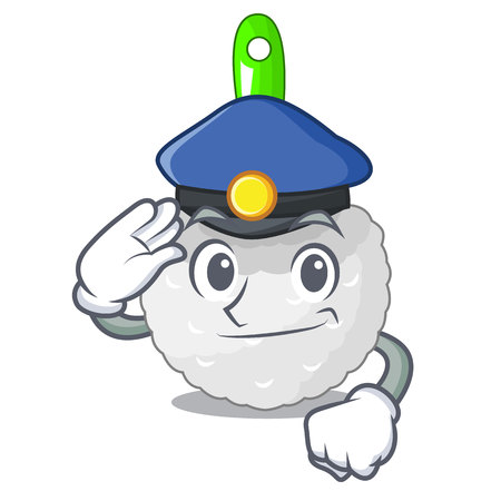 Police toilet brush in the character shape vector illustration