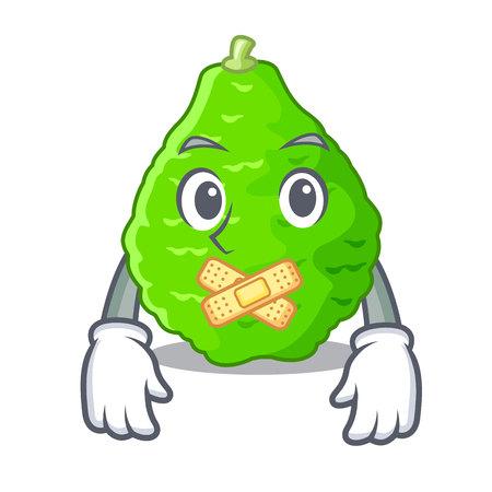 Silent Lime kaffir is isolated with cartoons