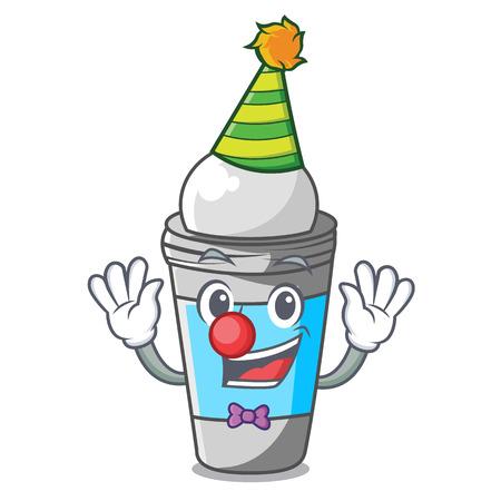 Clown roll on deodorant isolated with cartoon vector illustration Vettoriali