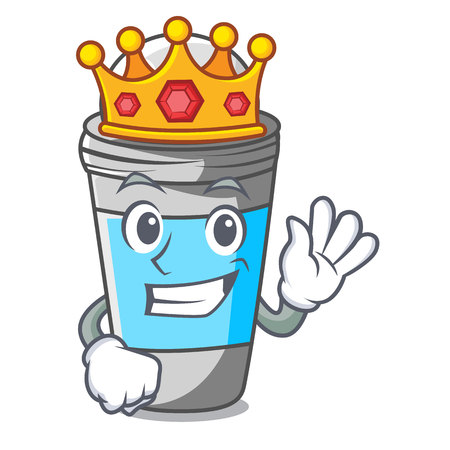 King roll on deodorant isolated with cartoon vector illustration Vettoriali