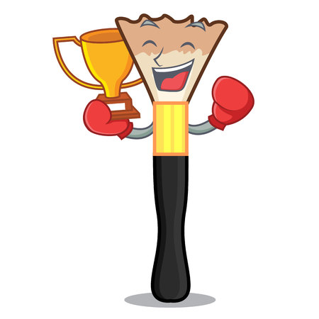Boxing winner blusher in the shape of mascot vector illustration
