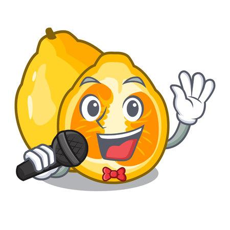 Singing ugli fruit in the cartoon fridge Illustration