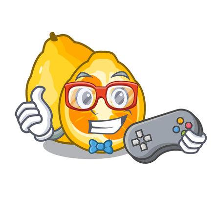 Gamer ugli fruit in the cartoon fridge vector illustration Illustration