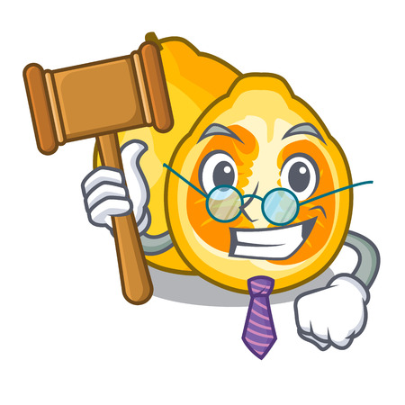 Judge ugly fruit in the character shape vector illustration