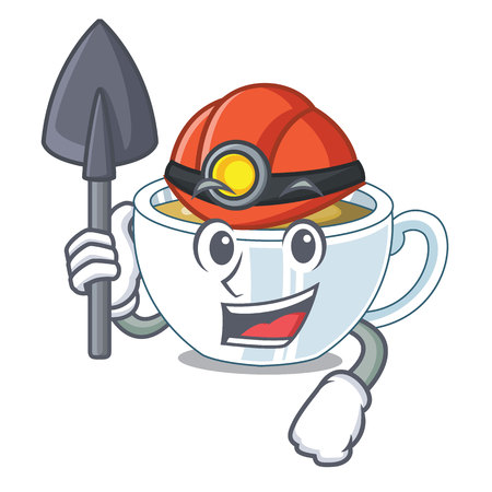 Miner ginger tea in the cartoon shape