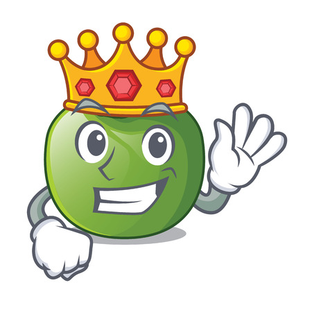 King green tomato in shape of mascot vector ilustration Illusztráció