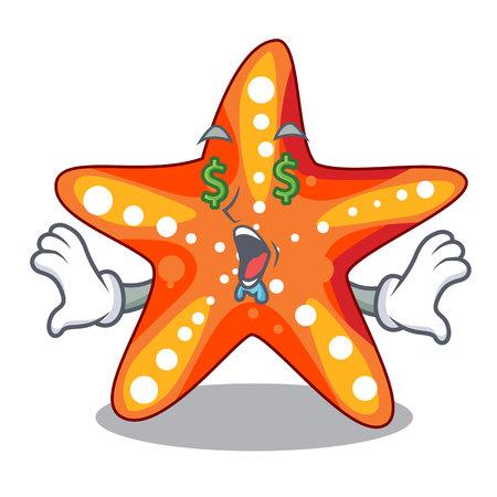 Money eye underwater sea in the starfish mascot