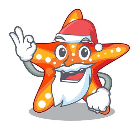 Santa underwater sea in the starfish mascot  イラスト・ベクター素材