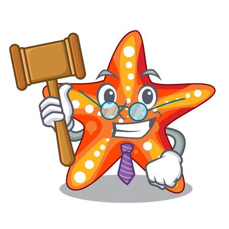 Judge underwater sea in the starfish mascot vector illustration  イラスト・ベクター素材