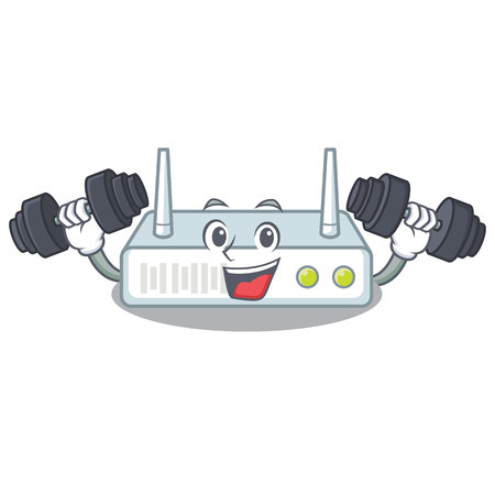 Fitness router in the a character shape