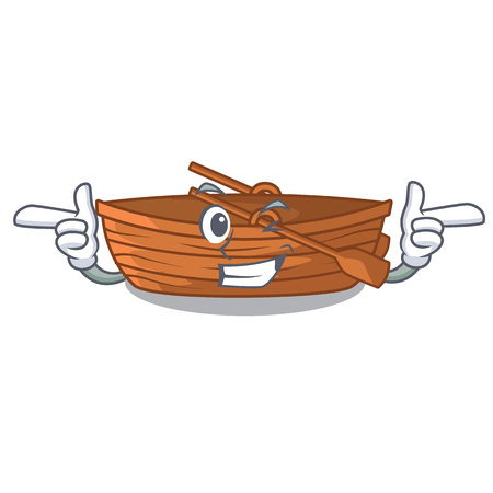 Wink wooden boats isolated with the cartoons