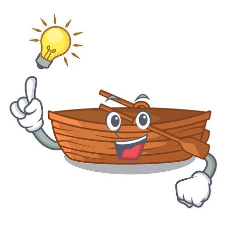 Have an idea wooden boat beside the mascot beach vector illustration Ilustração
