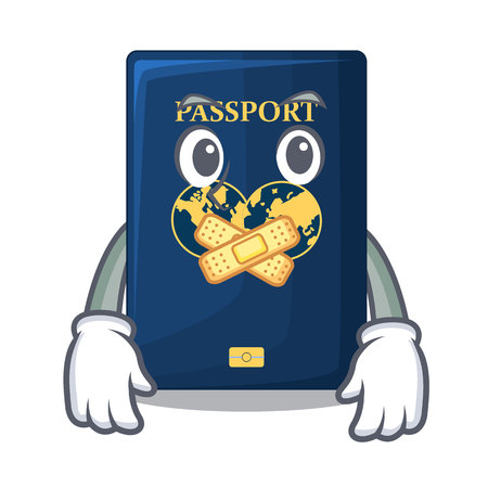 Silent blue passport isolated with the cartoons Иллюстрация
