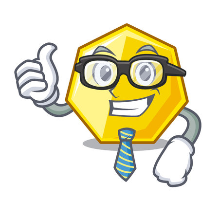 Businessman heptagon isolated with in the mascot vector illustration