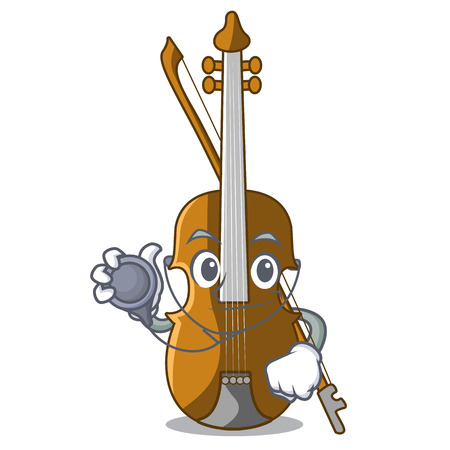 Doctor violin in the a character shape vector illustration