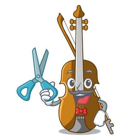 Barber violin in the a character shape vector illustration
