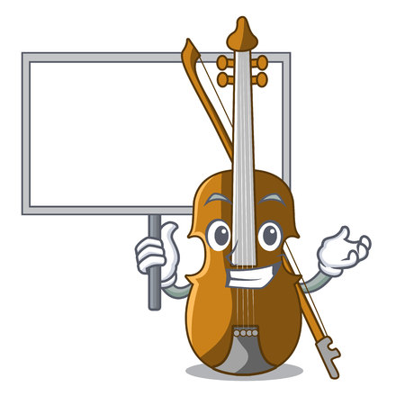 Bring board violin in the a character shape vector illustration