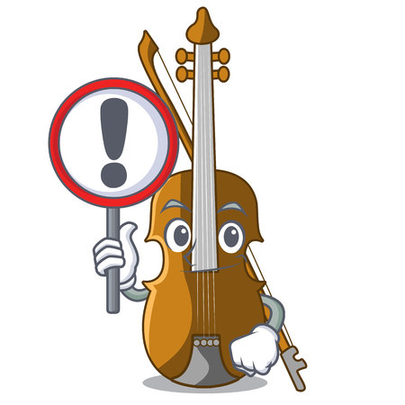 With sign violin in the a character shape vector illustration Ilustrace