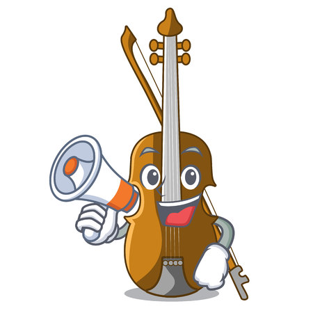 With megaphone violin in the a character shape vector illustration