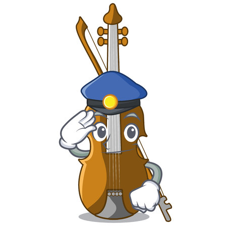 Police violin in the a character shape vector illustration