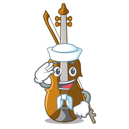 Sailor violin in the a character shape vector illustration