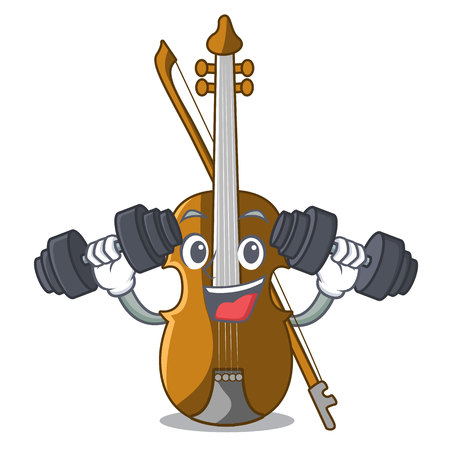 Fitness violin in the a character shape vector illustration