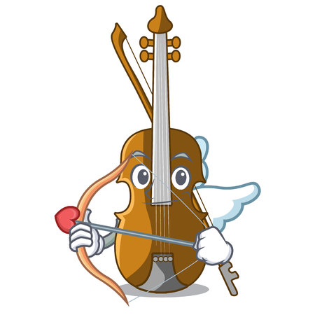 Cupid violin in the a character shape vector illustration