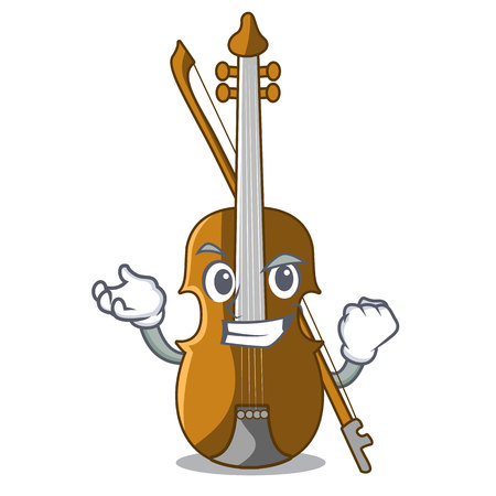 Successful violin in the shape cartoon wood vector illustration 일러스트