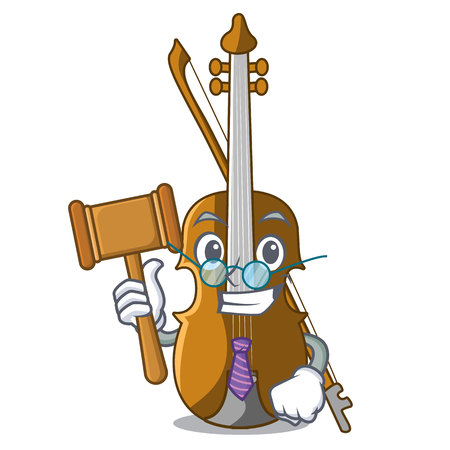 Judge violin isolated with in the mascot vector illustration