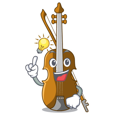 Have an idea violin isolated with in the mascot vector illustration