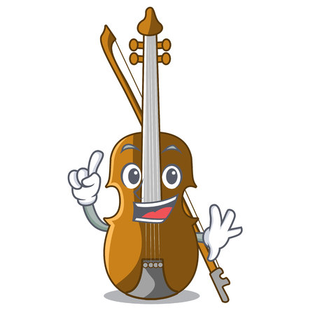 Finger violin isolated with in the mascot vector illustration