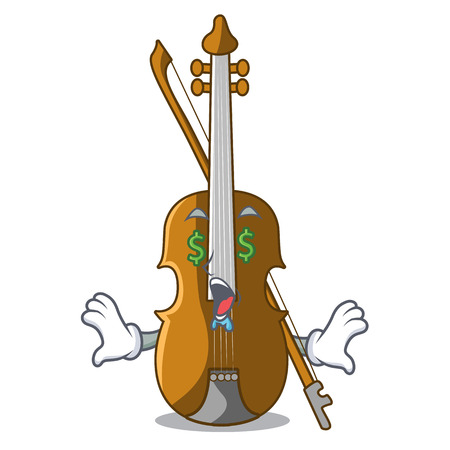 Money eye violin isolated with in the mascot vector illustration