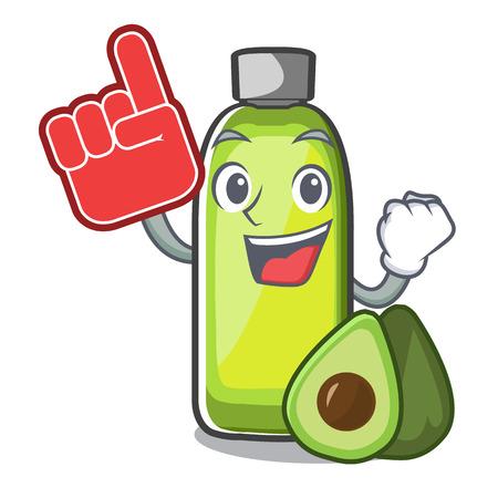 Foam finger avocado oil in a cartoon bowl vector illustration Illusztráció