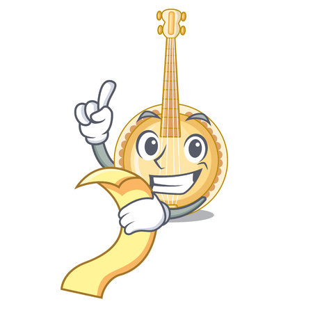 With menu banjo was isolated from the character vector illustartion