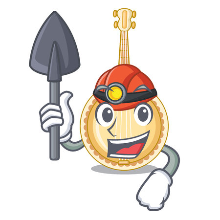Miner banjo was isolated from the character vector illustartion