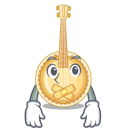 Silent miniature banjo in the cartoon shapes
