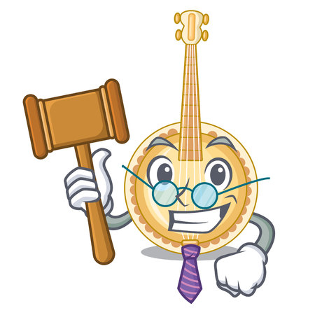 Judge miniature banjo in the cartoon shapes