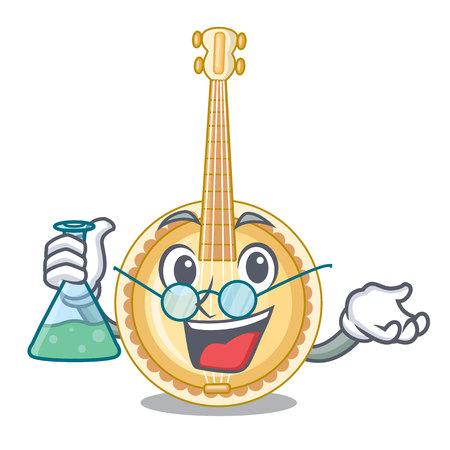 Professor banjo in the cartoon music room vector illustration Illustration