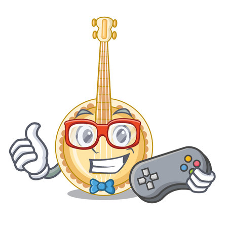 Gamer banjo was isolated from the character vector illustartion Illusztráció