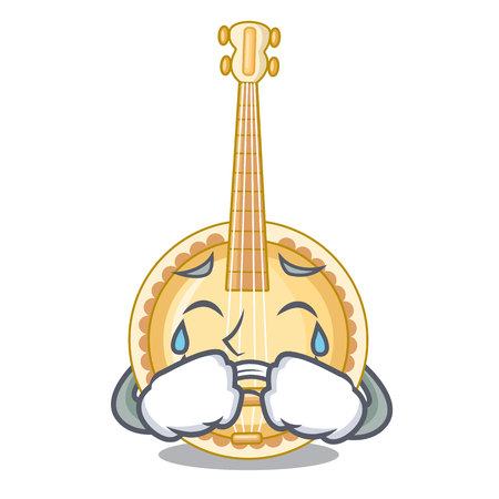Crying banjo was isolated from the character vector illustartion Illustration