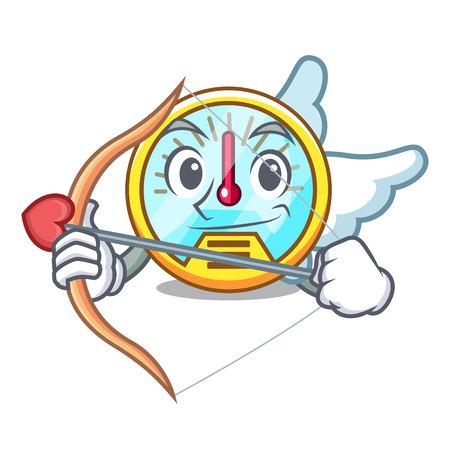 Cupid speedometer in the a cartoon shape vectr illustration