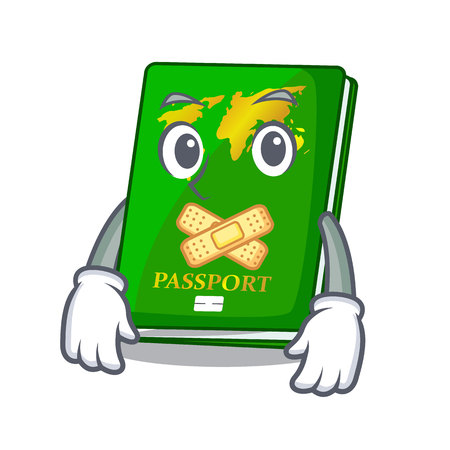 Silent green passport on the mascot table