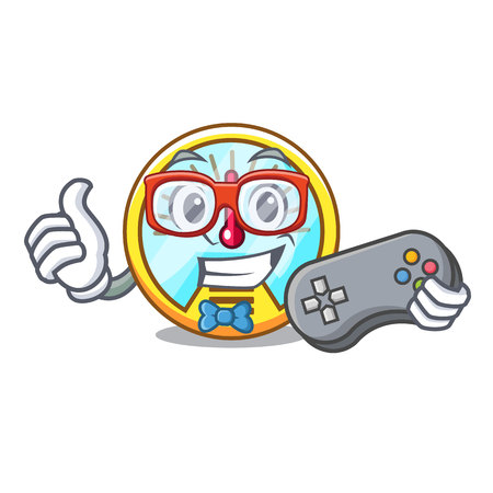 Gamer speedometer isolated with in the mascot vector illustration