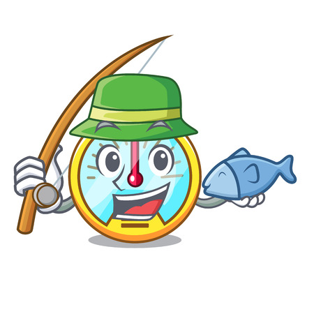 Fishing speedometer isolated with in the mascot vector illustration Illustration